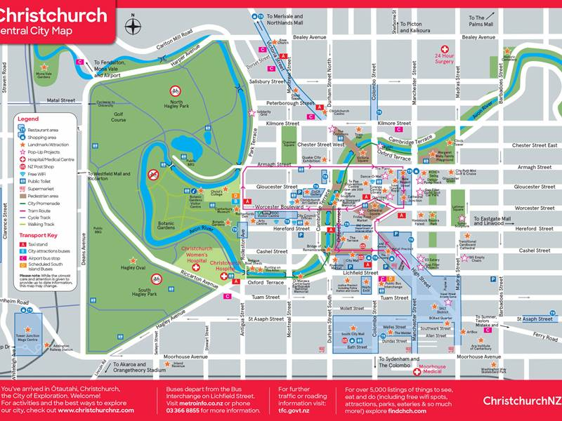 Christchurch Central City Map