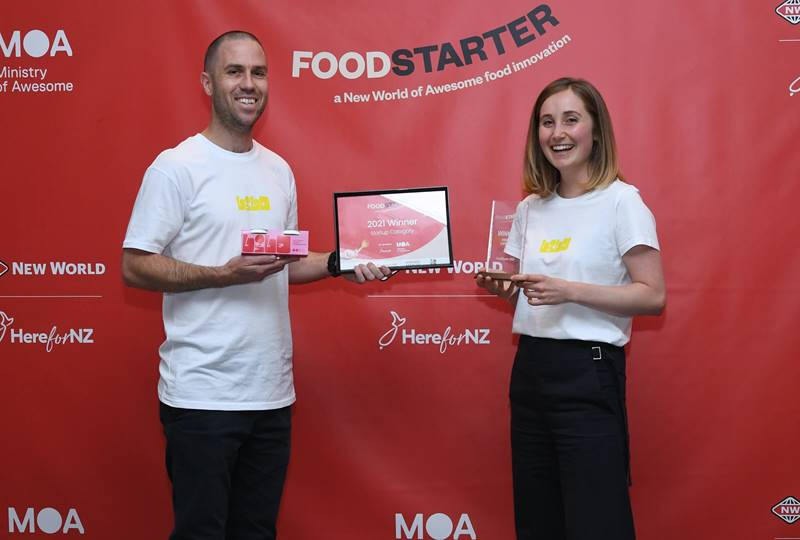 FoodStarter 2021 Winner Russell Haines and Cleo Gilmour from Lilo Desserts