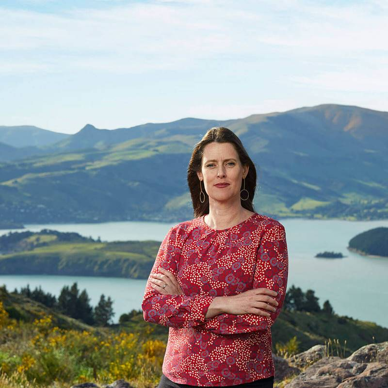 Joanna Norris on the Port Hills