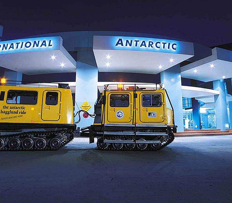International Antarctic Centre Exterior With Hagglund