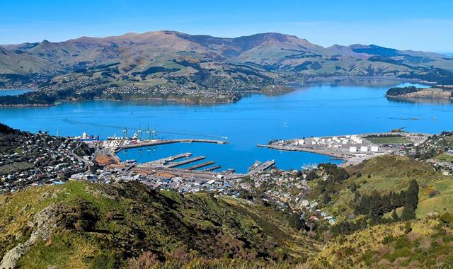 Lyttelton View from Hill
