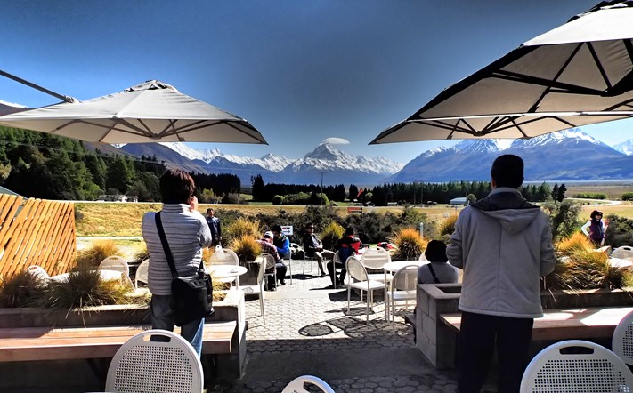 Fabulous views of Mt Cook National Park from our on-site café open year round.