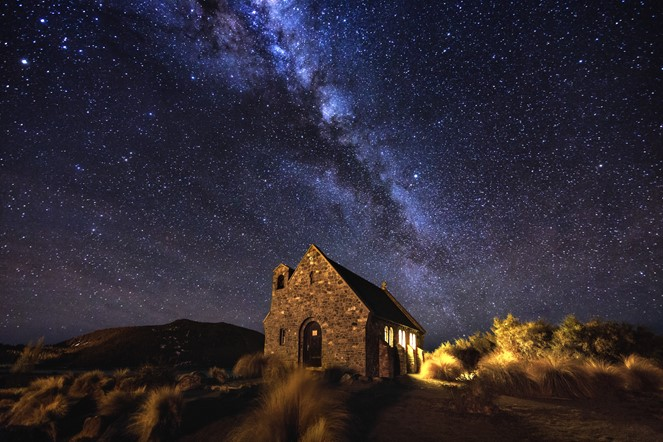The Milky Way over the Church of the Good Shepherd - Lake Tekapo