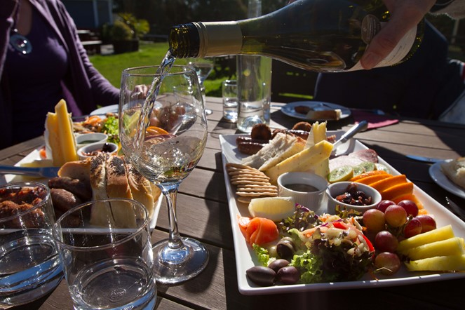 Yummy food and wine on the North Canterbury Food and Wine Trail