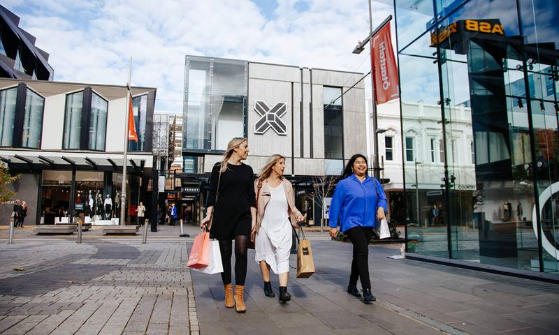 Christchurch Crossing Women Shoppers