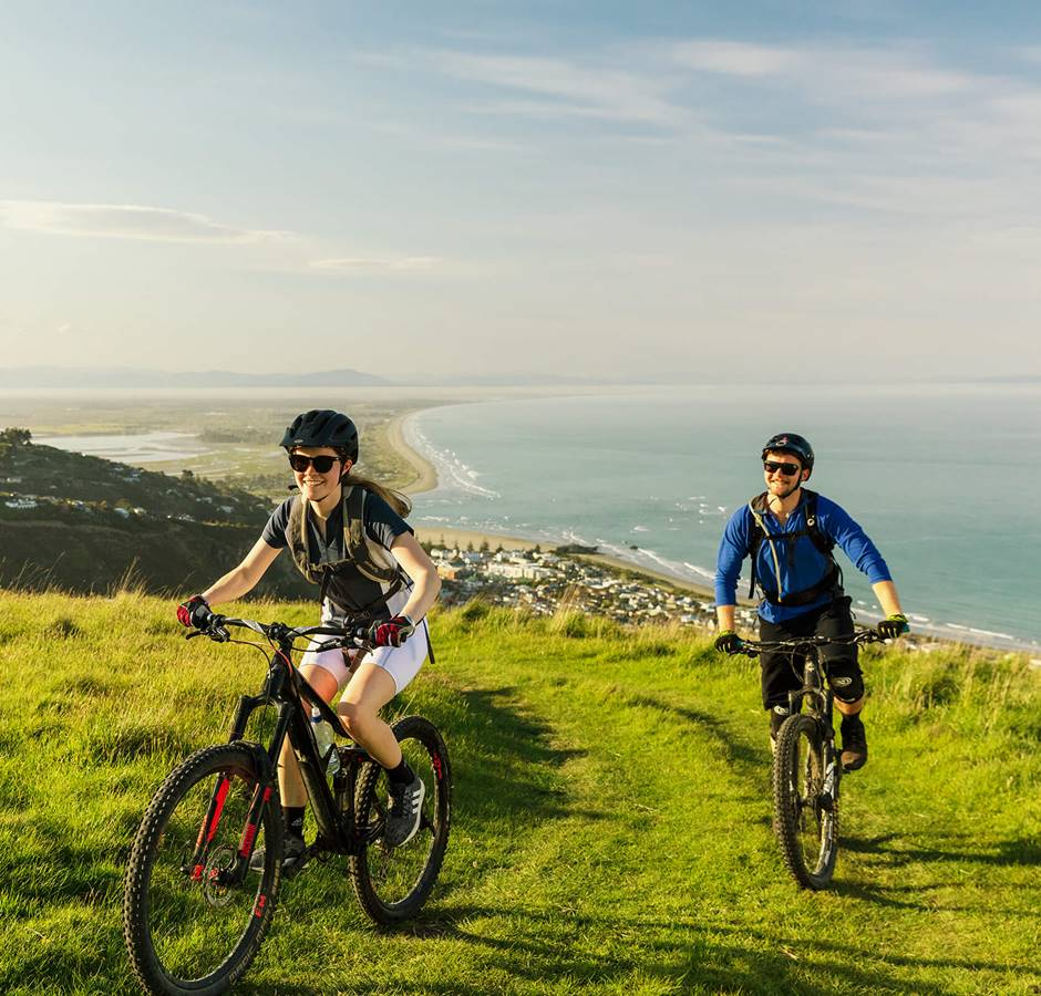 Hero Christchurch Port Hills Mountain Biking Uphill