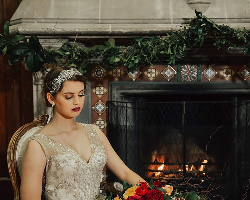 The Arts Centre Great Hall Fireplace Bride