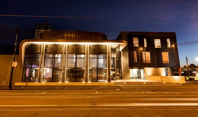 Christchurch The Piano Exterior at Night