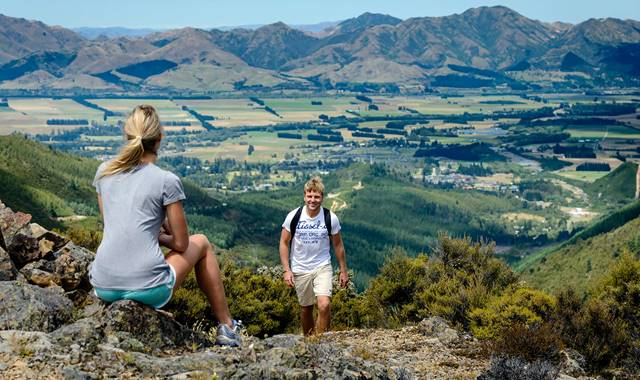 Hanmer Springs Couple Hiking View