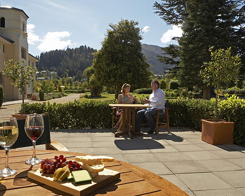 Heritage Hanmer Springs Couple on Patio