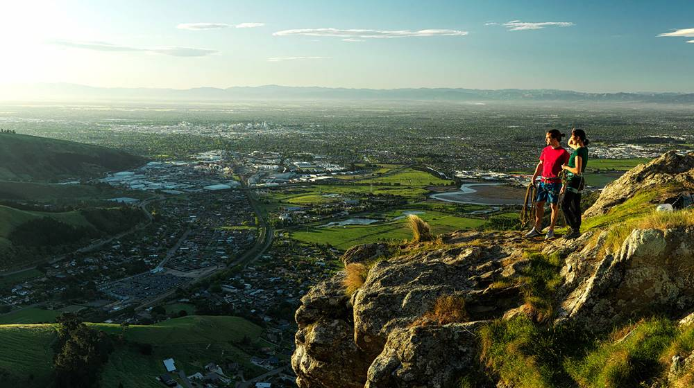 Hero Christchurch Port Hills Standing Climbing