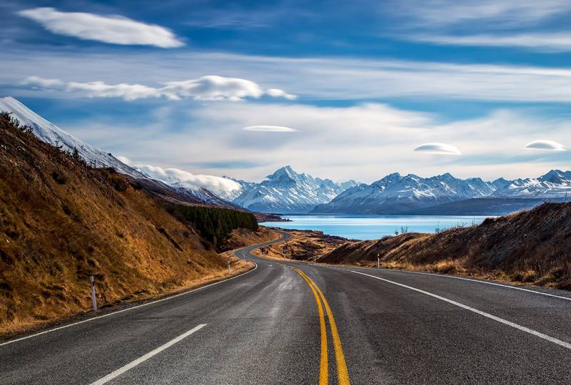 Mackenzie Road To Mount Cook - photo Rachel Stewart