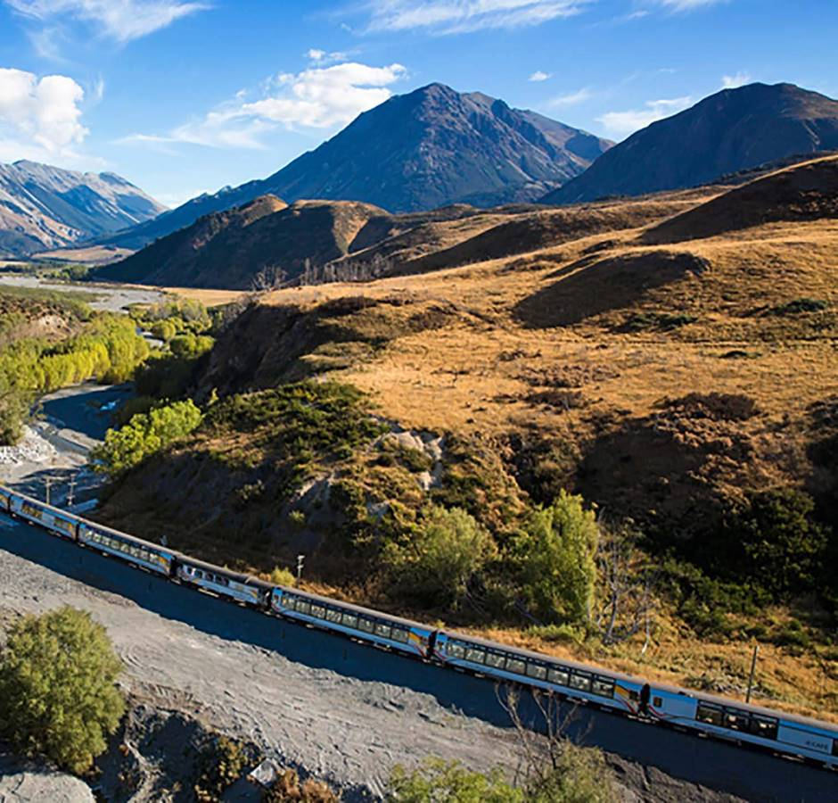Kiwirail Great Journeys of New Zealand Tranzalpine