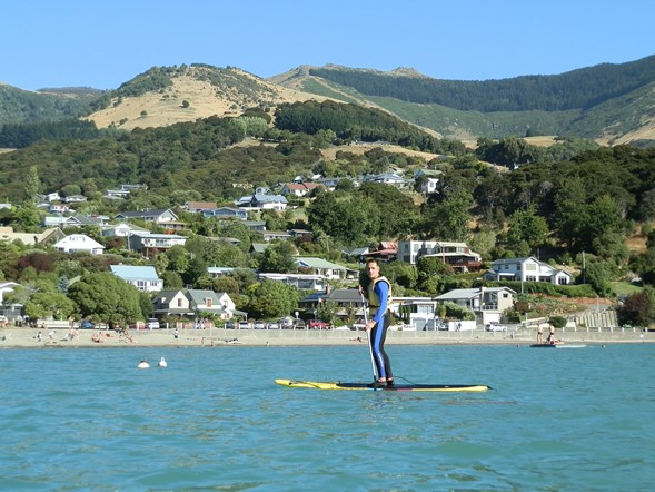 SUP in Akaroa Harbour