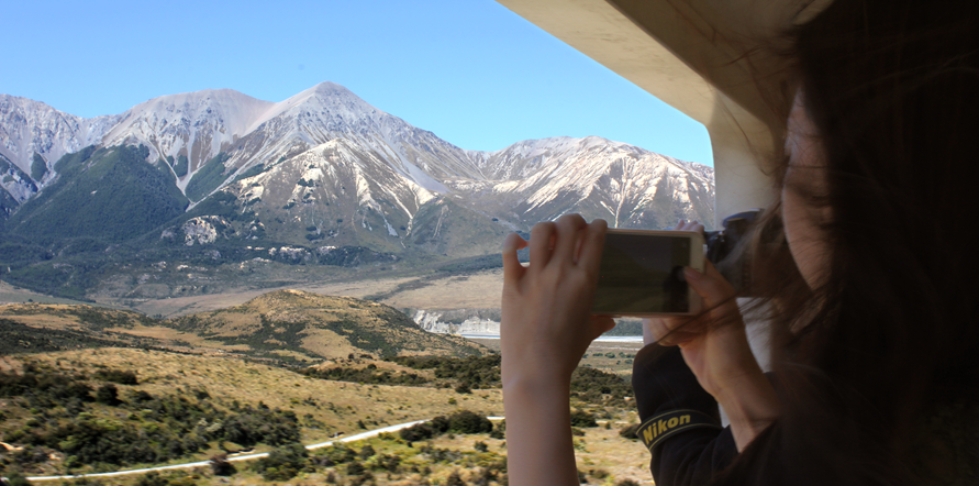 Breath in the fresh mountain air from our open viewing carriage as you wind through the Southern Alps