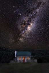 Our historic colonial cottage under the milky way.