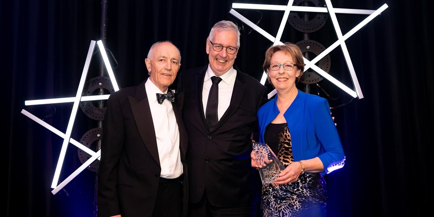 Receiving the 'Best Motel' award at the Hospitality NZ 2018 conference