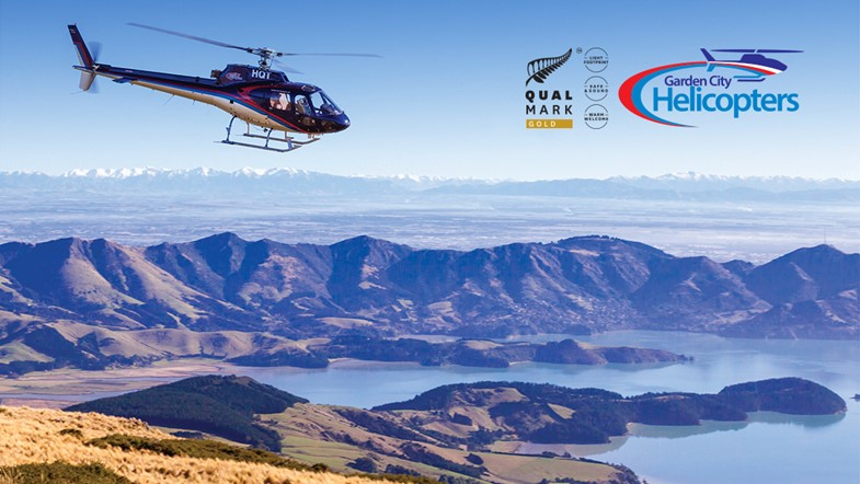 Fly over the magnificent coastline of Godley Head and Mt Herbert, Christchurch's tallest peak.
