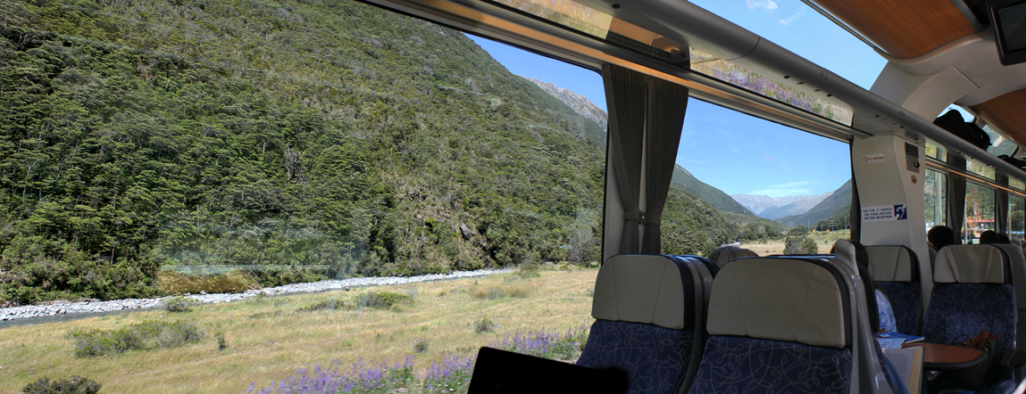 Enjoy stunning views of the impressive scenery from the comfort of our carriages
