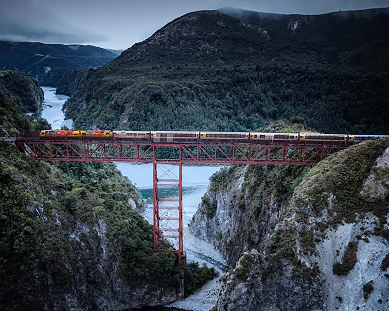 Kiwirail Great Journeys of New Zealand Tranzalpine Staircase Viaduct