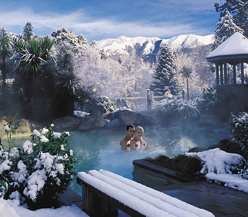 Hanmer Springs Thermal Pools Winter