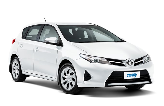 Thrifty Car Rental Toyota Corolla CCAR (or similar). 5 star ANCAP safety rated