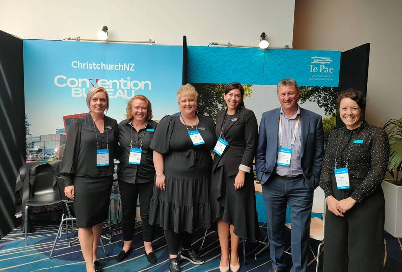 ChristchurchNZ Convention Bureau and Te Pae Convention Centre team at BE Reconnected