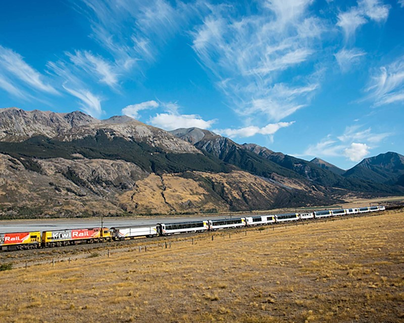 Kiwirail Great Journeys of New Zealand Tranzalpine Craigieburn Straight