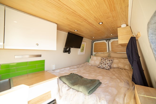 Kākāpō - campervan for hire in Christchurch from Quirky Campers New Zealand