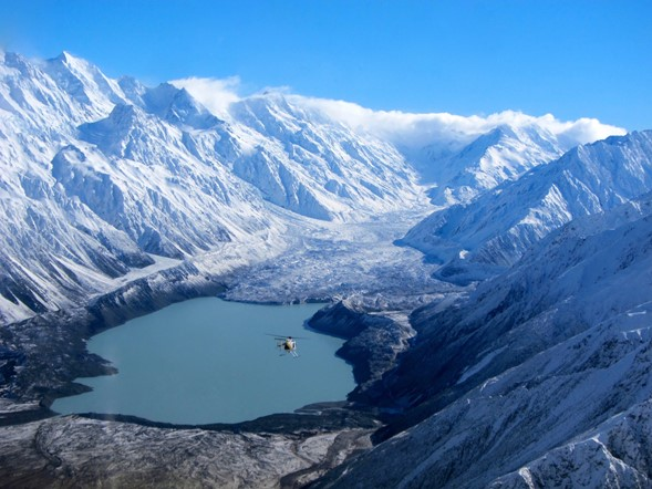 Scenic flights to view Mt Cook and the Glaciers