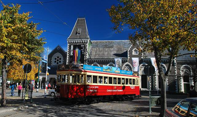 Canterbury Museum with Tram