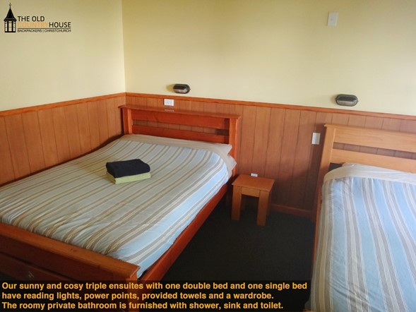 Our triple rooms (with or without ensuite) are spacious and sunny!
