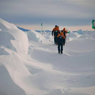 Antarctic Pressure Ridges Hike