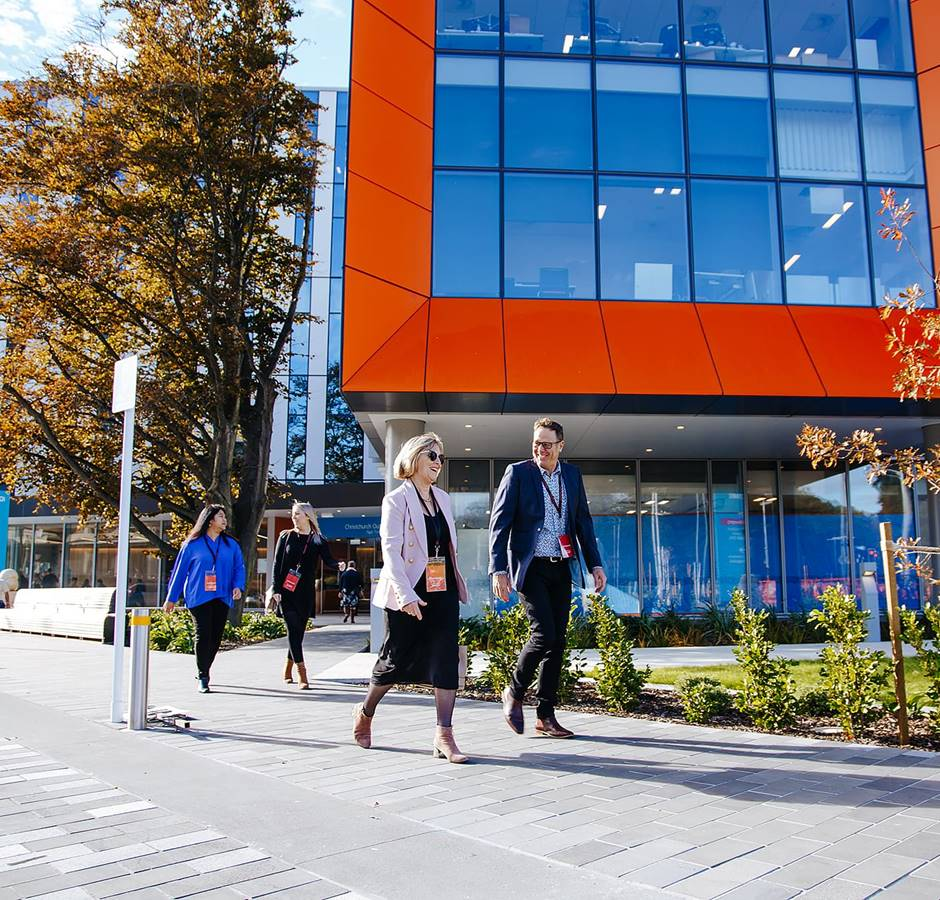 Christchurch Conference Delegates Outside Health Campus